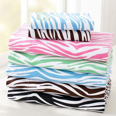 Zebra Sheet Set, Twin/Twin XL, Bright Pink