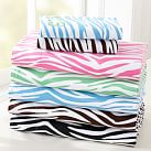 Zebra Sheet Set, Twin/Twin XL, Bright Pink
