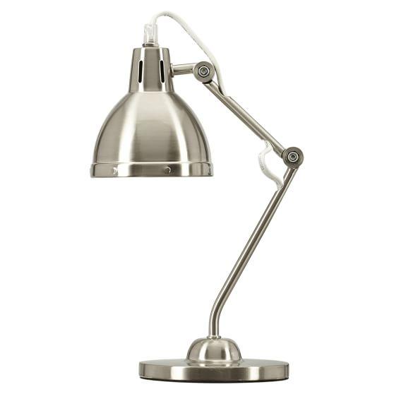 Penn Task Lamp, Brushed Nickel