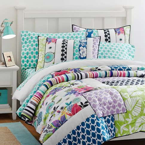 Tropical Garden Patchwork Quilt, Full/Queen, Multi