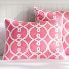 Totally Trellis, Standard Sham, Bright Pink