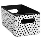 Mix `N Match Storage Mini Bin, Single, Mini Dot Black