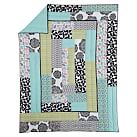 Graphic Patch Quilt, Twin, Black Multi