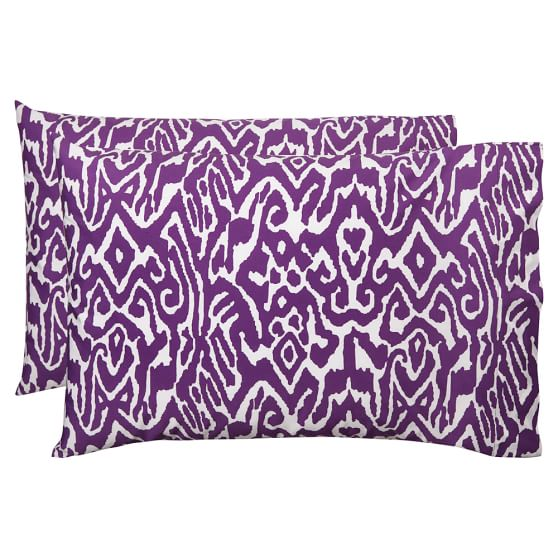 Urban Ikat Pillowcase, Standard, Set Of 2, Plum