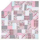 Boho Patchwork Quilt, Twin, Pink Multi