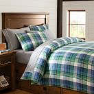 Field House Plaid Duvet, Full/Queen, Blue/Green