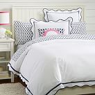 Vienna Scallop Duvet Cover, Twin, Royal Navy