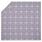 Flower Press Duvet Cover, Grey Multi, Twin