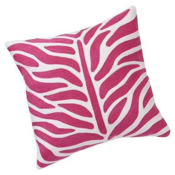 Zebra Pillow Cover, Pink Magentra