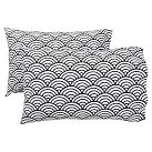 Quincy Scallop Extra Pillowcases, Set of 2, Black