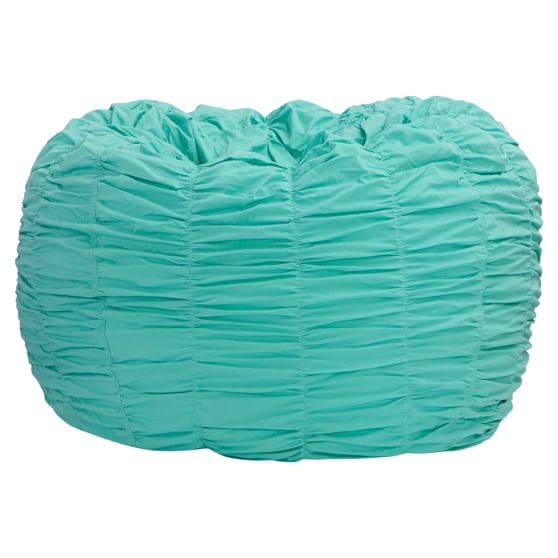 Rouched Pool Beanbag, Slipcover + Beanbag Insert, Small