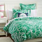 Morgan Floral Duvet Cover, Twin, Gumdrop Green
