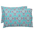 Petal Medallion Pillowcase, Standard, Set Of 2, Multi Cool