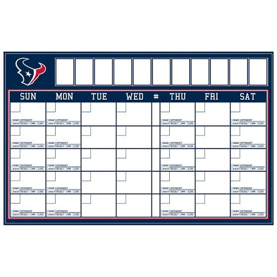NFL Calendar, Houston Texans