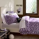 Urban Ikat Duvet Cover, Twin, Plum