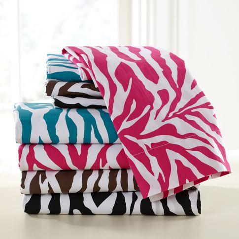 Funky Zebra Sheet Set, Pink Magenta, Twin/Twin XL