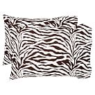 Funky Zebra Pillowcases, Dark Coffee, Set Of Two, Standard