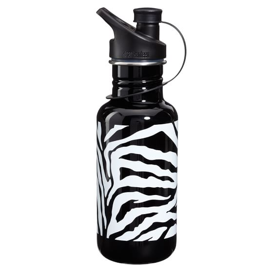 Gear-Up Black Zebra Water Bottle