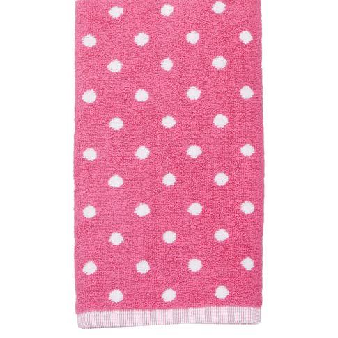Dottie Towels, Pink Magenta, Wash Cloth