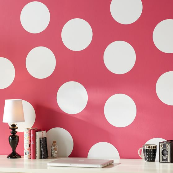 Oversized Dots Decal, Black