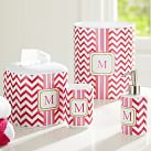 Preppy Bath, Cup, Pink Chevron