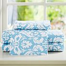 Damask Sheet Set, Twin/Twin XL, Sky Blue