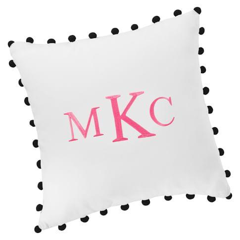 Color Pop Pillow Cover, Black