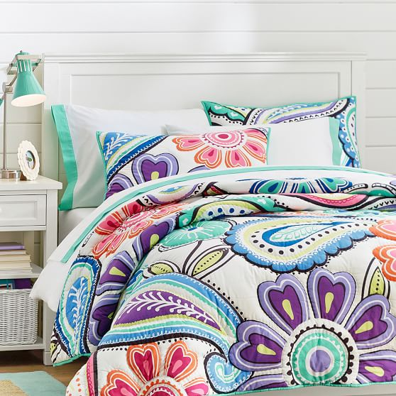 Kennedy Paisley Quilt, Full/Queen