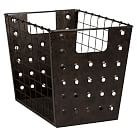 Rustic Perforated Bins, Medium Bin, Set Of Two