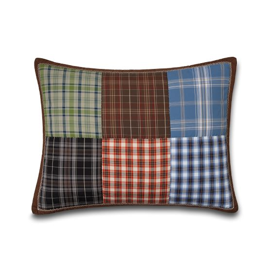 Patch Plaid Sham, Standard, Multi Plaid