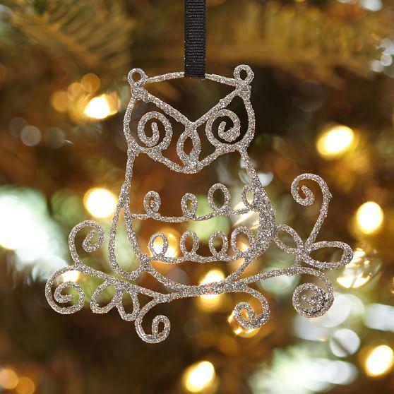 Wire Icon Ornament, Owl