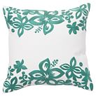 Surf Crewel Pillow Cover, 16x16, Isabel Floral Sea Blue