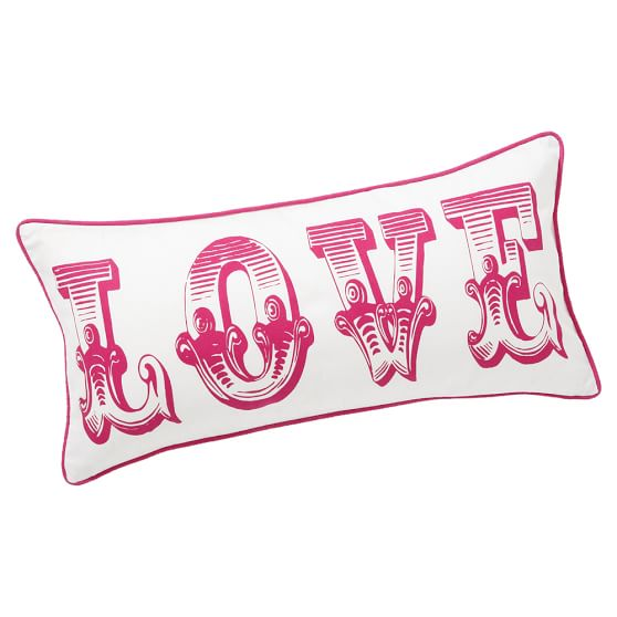 Love Pillow Cover, 12x24