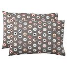 NFL Extra Pillowcases, Set of 2, NFC (Charcoal)
