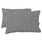 Rings Extra Pillowcases, Set of 2, Black