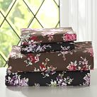 Sunwashed Floral Sheet Set, Twin XL, Coffee