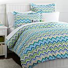 Newport Wave Duvet Cover, Twin, Cool