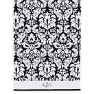 Damask Washcloth, Black