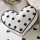 The Emily & Meritt Heart Sequin Pillow