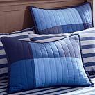 Skyline Patchwork Standard Sham, Blue