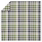 Palmer Plaid Duvet Cover, Twin, Green