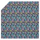 Peace Out Flannel Duvet Cover, Twin, Black Multi