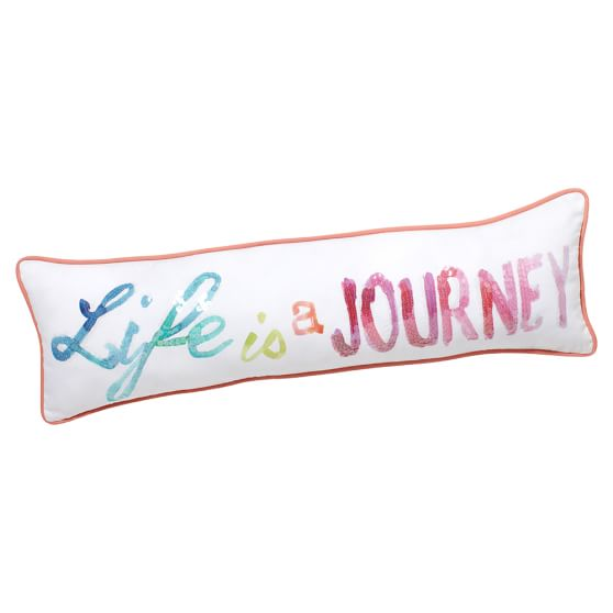 Inspire Me Pillow Cover, 8x27, Life Is A Journey