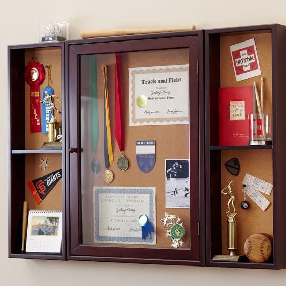 Sports Showcase, Shelf, Espresso