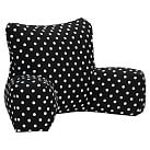 Dottie Applique Lounge Around Pillow Cover, Black
