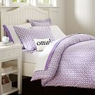 Petal Dot Duvet, Full/Queen, Purple