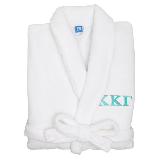 Greek Classic Robe, White