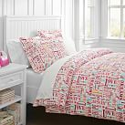 Merry Word Duvet Cover, Twin, Warm