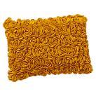 Felted Rosette Pillow Cover, 12x16, Golden Yellow