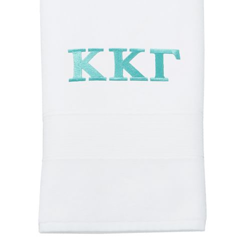 Greek Classic Organic Washcloth, White